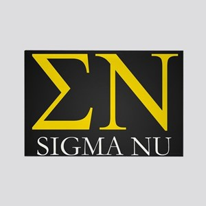 Sigma Nu Letters Rectangle Magnet