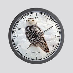 Snowy Owl Wall Clock