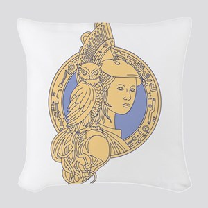 Athena with Owl on Shoulder Circuit Circle Mono Li