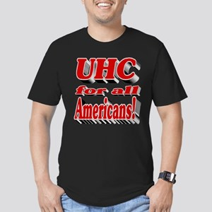 UHC for all Americans Men's Fitted T-Shirt (dark)