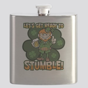 St. Patricks Day Ready to Stumble Funny Lepr Flask