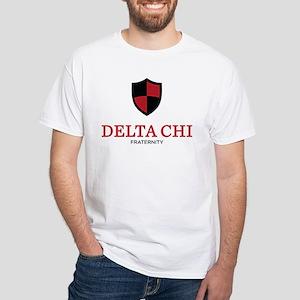 Delta Chi Fraternity Crest White T-Shirt