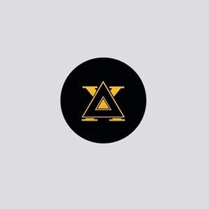 Delta Chi Fraternity Letters Black Mini Button
