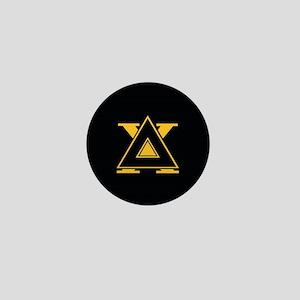Delta Chi Fraternity Letters Black Mini Button