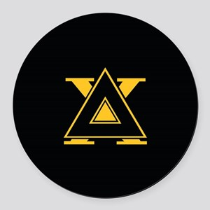 Delta Chi Fraternity Letters Blac Round Car Magnet