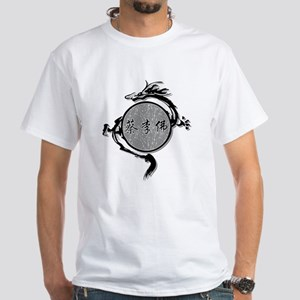 White Choy Li Fut Circle Dragon T-Shirt