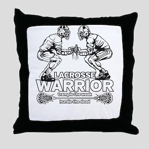 Lacrosse Warrior Trample the Weak Throw Pillow