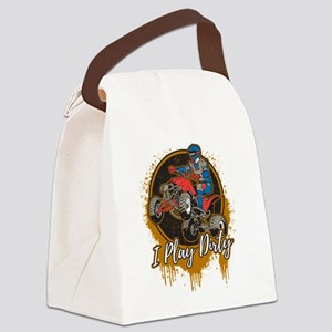ATV Offroad I Play Dirty Canvas Lunch Bag