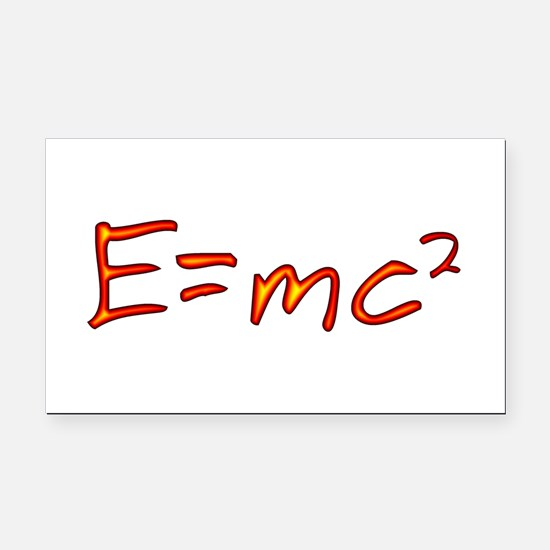 Incandescent Relativity Rectangle Car Magnet