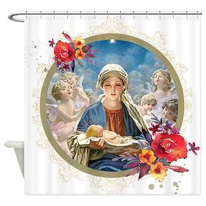 Christian Christmas Shower Curtains