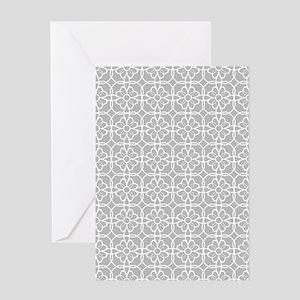 Grey Flourish Pattern Greeting Card