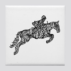 Doodle artwork of horse jumping with Tile Coaster