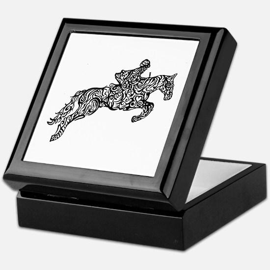 Doodle artwork of horse jumping with Keepsake Box