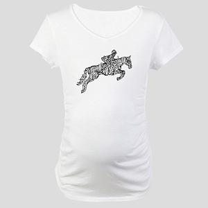 Doodle artwork of horse jumping Maternity T-Shirt