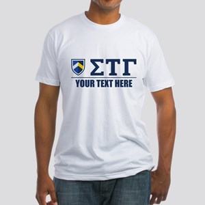 Sigma Tau Gamma Letters Personalize Fitted T-Shirt