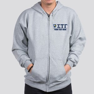 Sigma Tau Gamma Letters Personalized Zip Hoodie