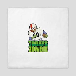 Today's Zombie - Superbowl Football Zo Queen Duvet