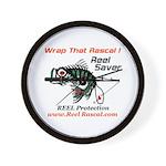 Wrap That Rascal Fishing Wall Clock