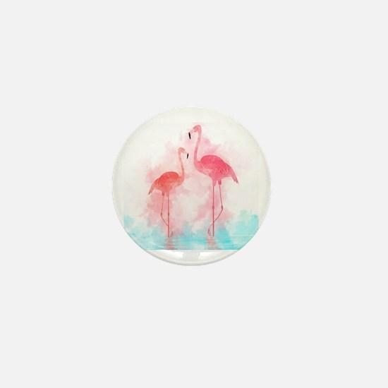 Cute Flamingos Mini Button