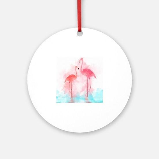Watercolour Round Ornament