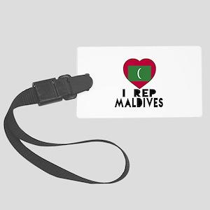 I Rep Maldives Country Large Luggage Tag