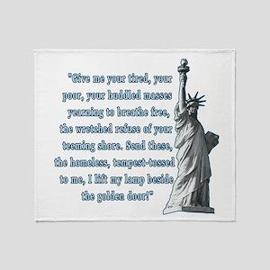 Statue of Liberty Throw Blanket