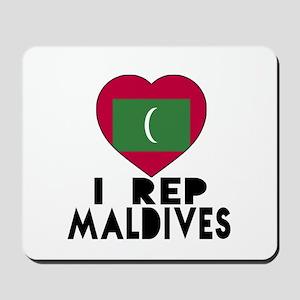 I Rep Maldives Country Mousepad