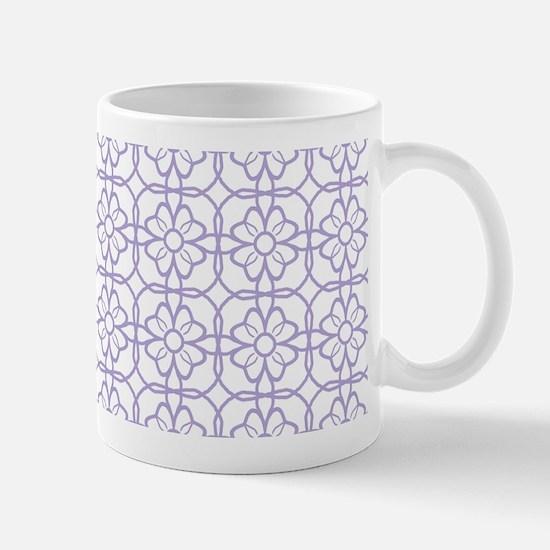 Purple Flourish Pattern Mug