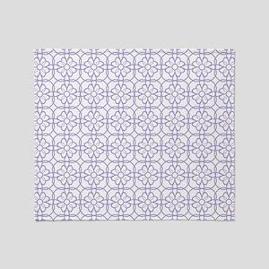 Purple Flourish Pattern Throw Blanket