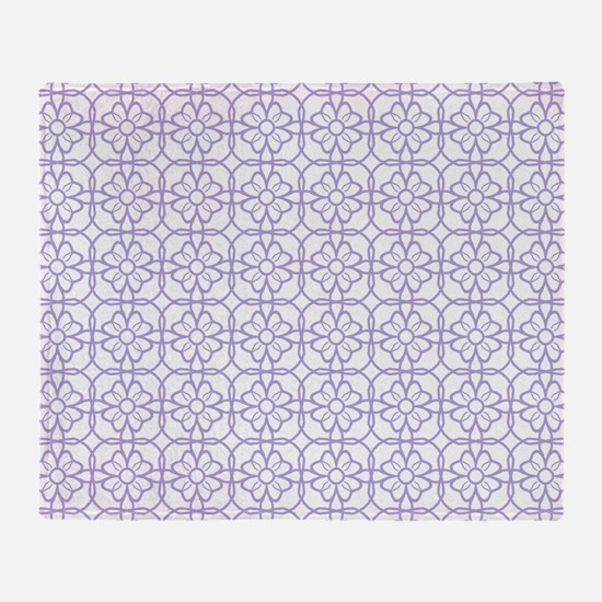 Purple Flourish Pattern Throw Blanket