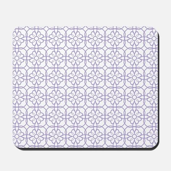 Purple Flourish Pattern Mousepad