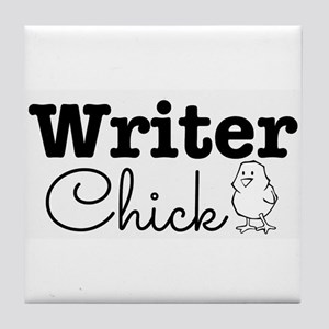 Writer Chick Tile Coaster