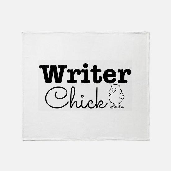 Writer Chick Throw Blanket