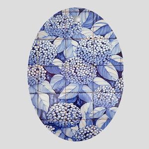 Floral tiles Oval Ornament