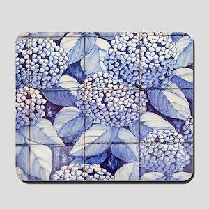 Floral tiles Mousepad