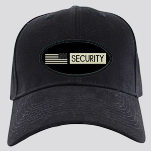 Security (Reverse Black Flag) Black Cap with Patch