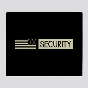 Security (Reverse Black Flag) Throw Blanket