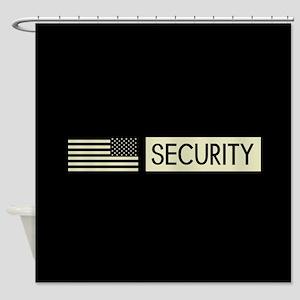 Security (Reverse Black Flag) Shower Curtain