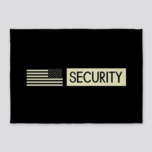 Security (Reverse Black Flag) 5'x7'Area Rug