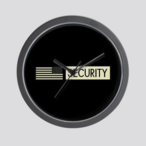 Security (Reverse Black Flag) Wall Clock