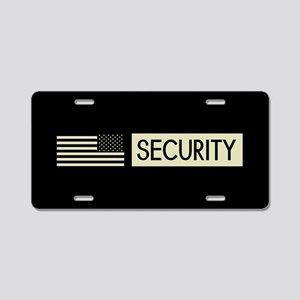 Security (Reverse Black Fla Aluminum License Plate