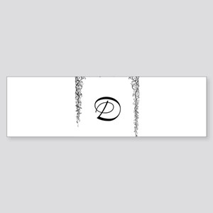 Monogram D Bumper Sticker