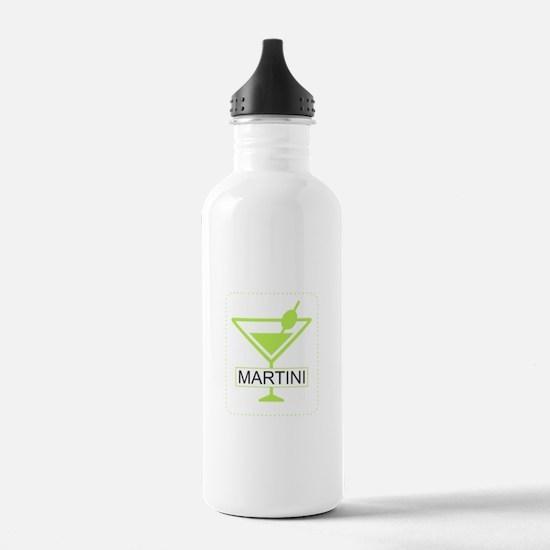 Martini Apple Green Water Bottle