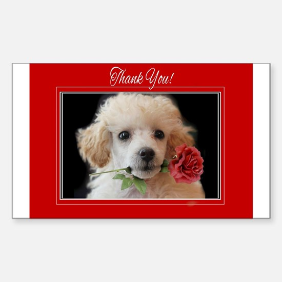 Thank You Poodle puppy Decal