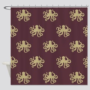 Octopus Pattern Shower Curtain