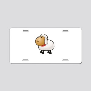 sheep all alone Aluminum License Plate