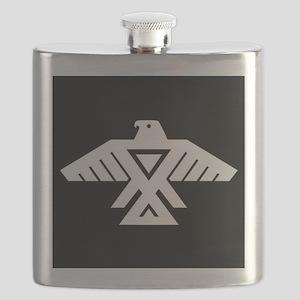 Anishinaabe Thunderbird flag Flask