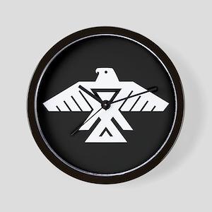 Anishinaabe Thunderbird flag Wall Clock
