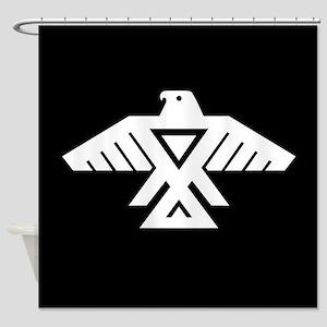 Anishinaabe Thunderbird flag Shower Curtain