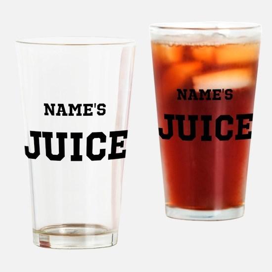 [Insert names] Juice Drinking Glass